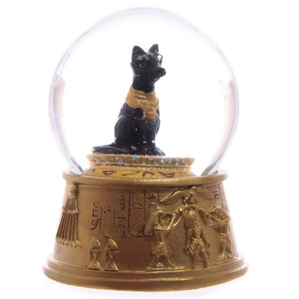 Sphynx Cat Egyptian Waterball with Hieroglyphics